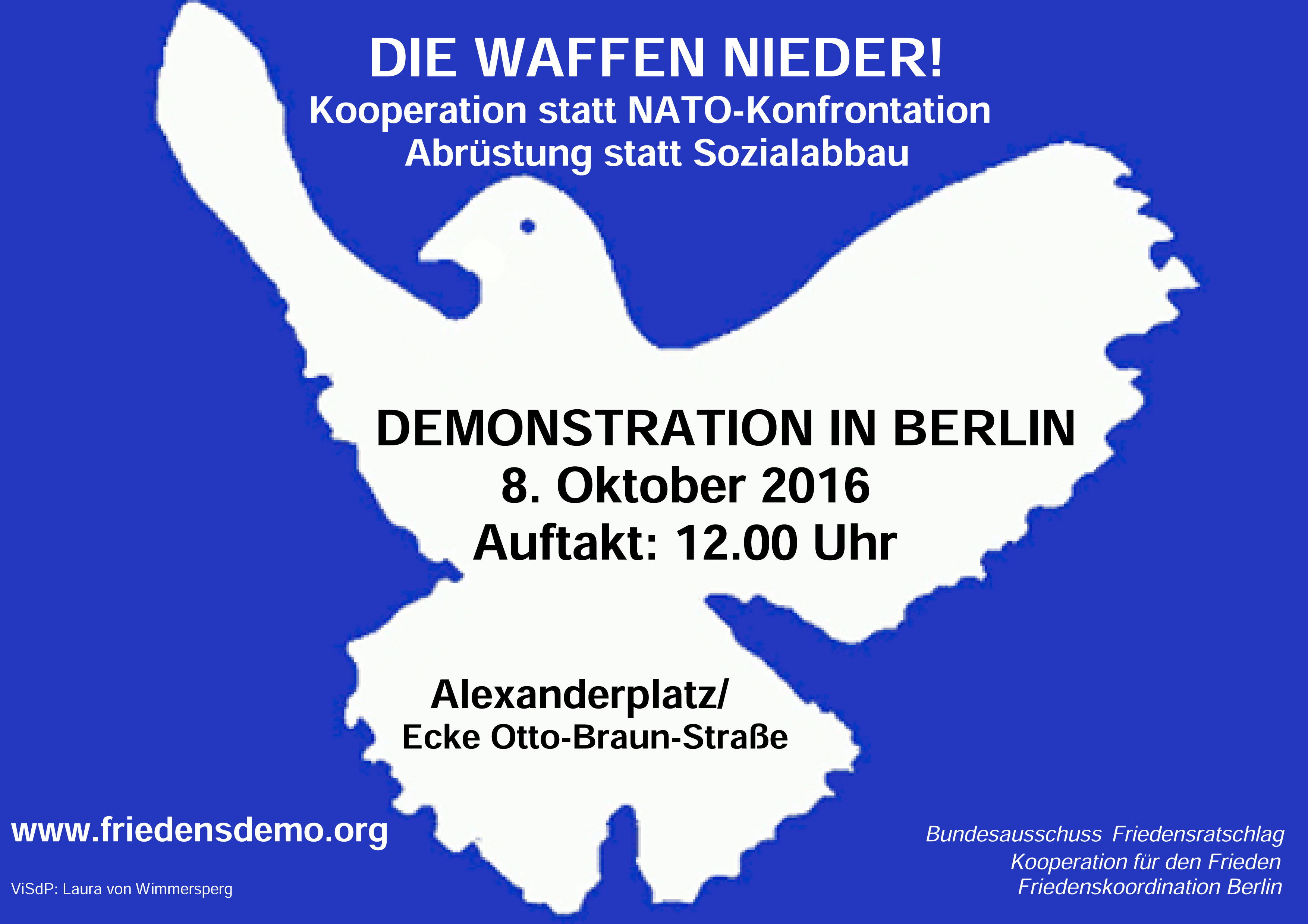 Flyer zur Demo am 8. Oktober 2016